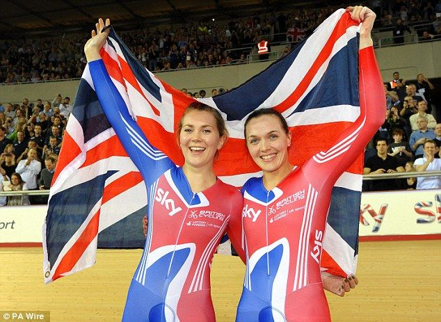 Victoria Pendleton says she 'wholeheartedly believes' her fellow rider Jess Varnish (pictured together at London 2012) was bullied at British Cycling, claiming she experienced similarly oppressive behaviour