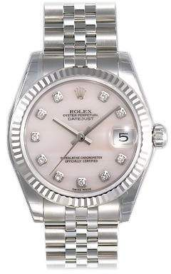 d25143a6100 Rolex Datejust Lady 31 Pink Mother-of-pearl with Diamonds Dial Stainless  Steel Jubilee Bracelet Automatic Watch