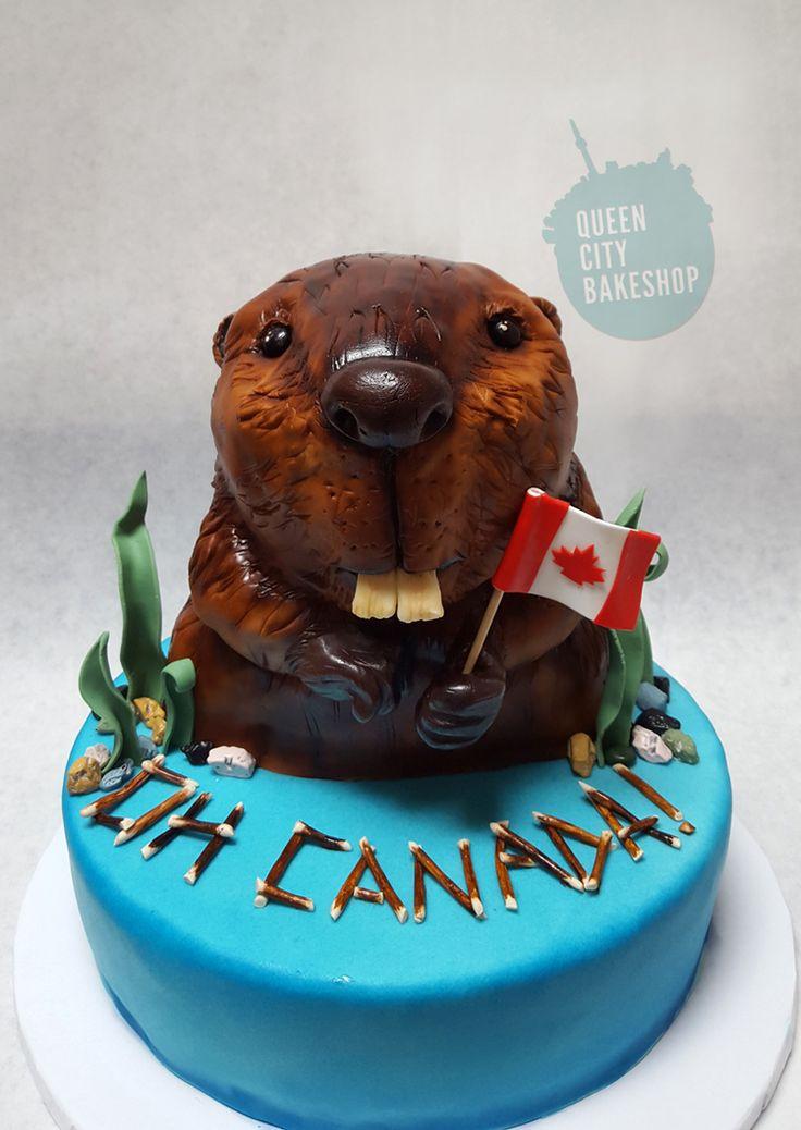Canada Day Beaver Cake