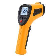 Equipo de medición. Termómetro laser Con una precisión de 1/0.5ºC y un tiempo de respuesta de alrededor 10 segundos