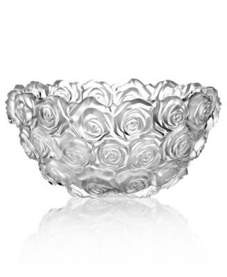 Monique Lhuillier Waterford Crystal Bowl, Sunday Rose