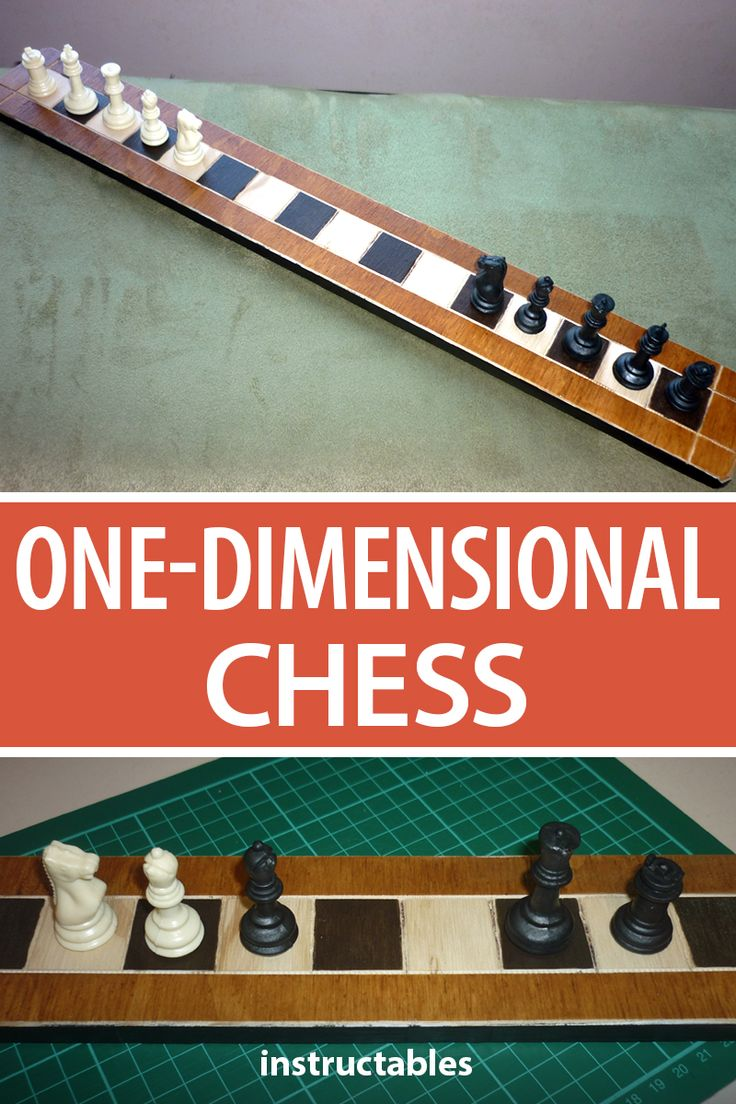 One Dimensional Chess Chess Diy Projects Using Wood Family Fun Games