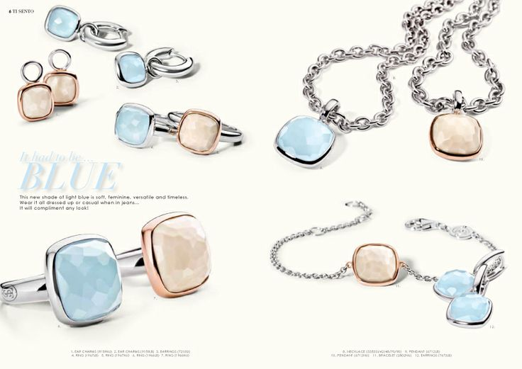 Spring / Summer 2014 Collection #Summer #Italy #Happy #Capri #TiSento #Jewellery #LaVitaAlSole #Blue #Nude #Silver #Rosegold #Feminine #Cushion #Ring #Earring #Necklace #Pendant #Bracelet