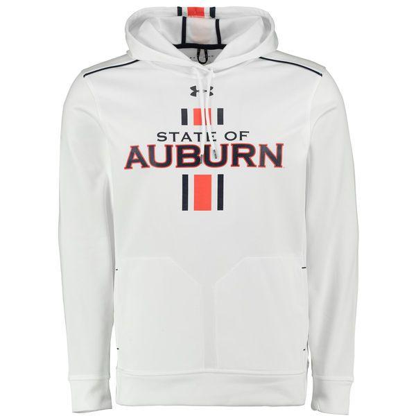 Auburn Tigers Under Armour 2015 Iron Bowl Capture Performance Hoodie - White - Fanatics.com