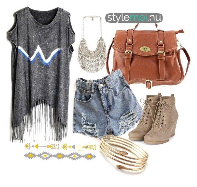 """longline tshirt"" by fashioncopasser ❤ liked on Polyvore"