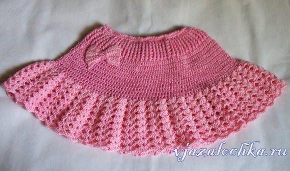 Детская юбка крючком