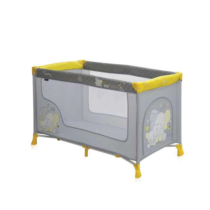 Παρκοκρέβατο Lorelli Nanny Elephants Yellow - ΛΗΤΩ Βρεφικά Πολυκαταστήματα