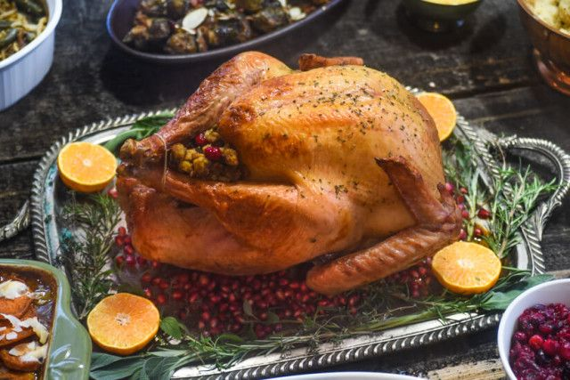 Beer Brined Turkey: Brining your turkey in beer is a stellar idea. Not only does the beer tenderize the turkey but it makes for delicious subtle flavor addition. We smother it in herb butter for added flavor and that perfect crispy skin.