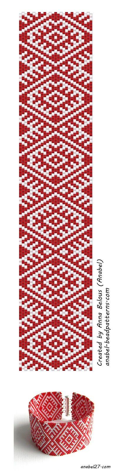 scheme for beading free peyote patterns Mosaic