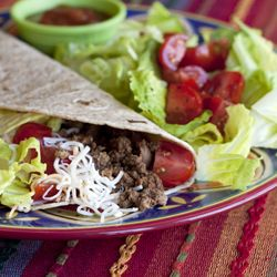 Easy Ground Beef Tacos - there's no need to buy a taco seasoning packet at the store.