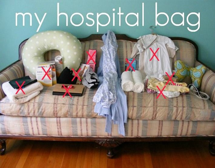 hospital bag-hysterical... she made me laugh so hard and a great list of what you (she) actually used