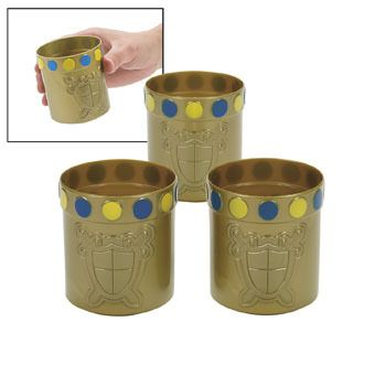 Knight's Party Plastic Mugs | Party Kit n Kaboodle Theme Party Shop