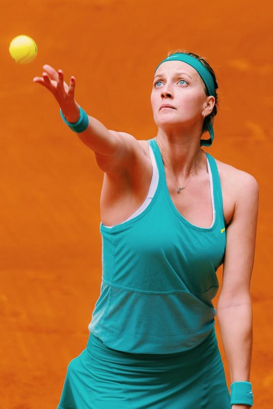 Petra Kvitova playing in Madrid 2015 #WTA #Kvitova #Madrid