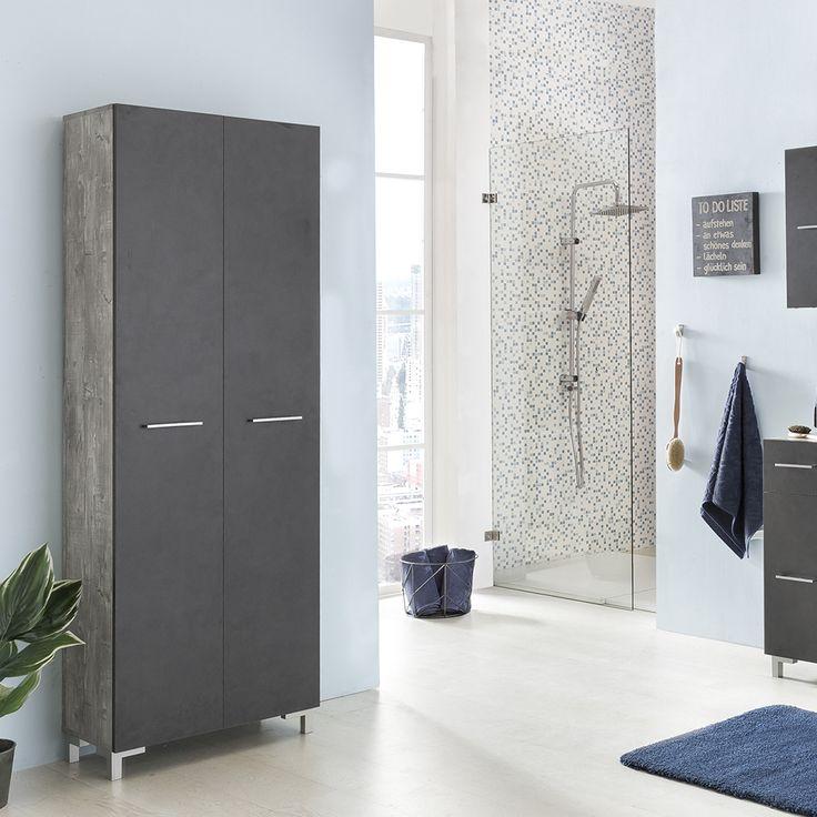 Die besten 25+ Dunkelgraue badezimmer Ideen auf Pinterest - badezimmer hochschrank 60 breit