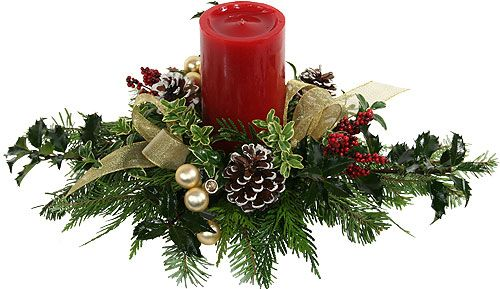 Gallery For > Christmas Floral Arrangements Centerpieces