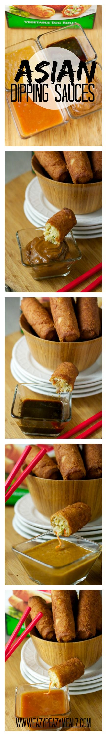 Asian Dipping Sauces: perfect set of dipping sauces, for an egg roll or spring roll dipping bar! - Eazy Peazy Mealz