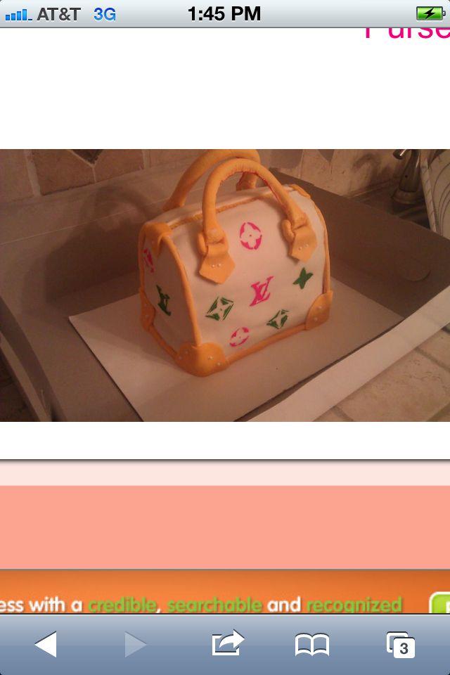 LV purse cake $75