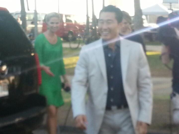 Daniel Dae Kim from Hawaii Five o h50 at premiere in Waikiki. 9-23-12