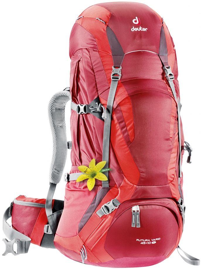 Wanderrucksack Futura Vario 45 + 10 SL: Der Deuter Futura Vario SL ist eine Mischung aus Wanderrucksack und Trekkingrucksack für Damen. Ideal für längere Touren.
