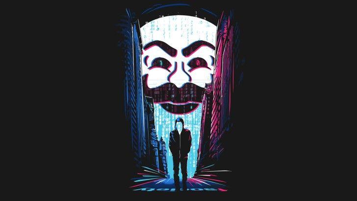 Mr. Robot Hacker Mask Wallpaper