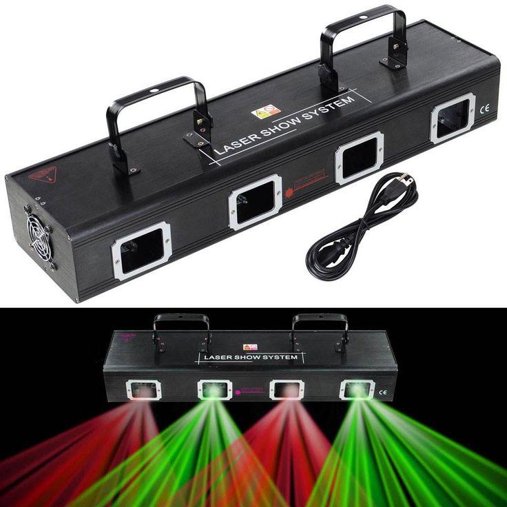 4 Lens RG Laser Stage Light DMX Disco Lighting System