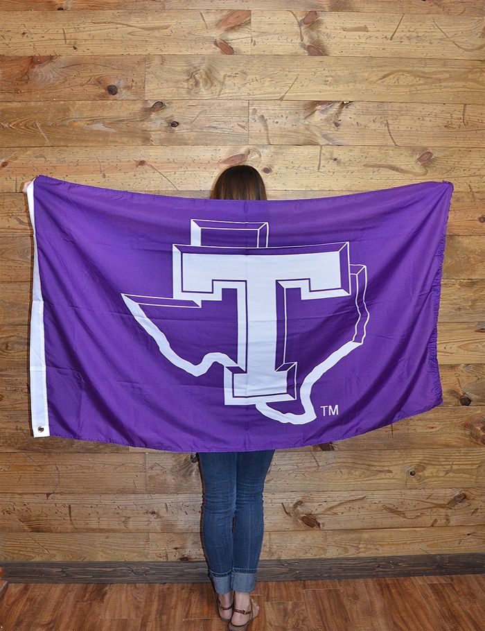 Let your Texan pride fly high with this new Tarleton Block T flag! Go TSU!