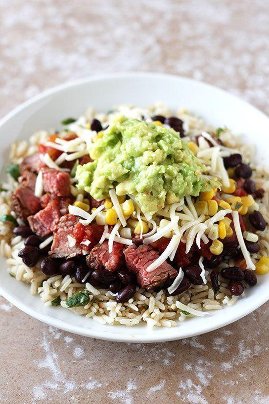 Copycat Steak Burrito Bowl Recipe | Chipotle just got a whole lot tastier.