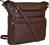 Pielino Women's Genuine #Leather Multi Pockets RFID Protection #Crossbody #Bag  Full review at: http://best10best.com/best-crossbody-bags/