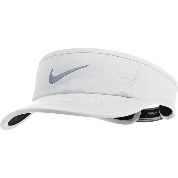 Nike Run Visor (94140 PYG) ❤ liked on Polyvore featuring accessories, nike and sun visor