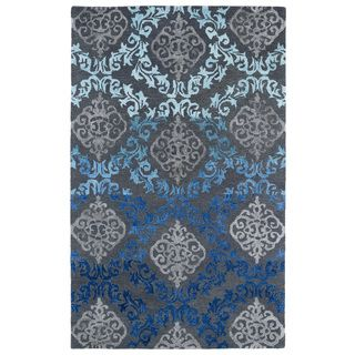 Shop for Hand-Tufted Ombre Ice Damask Rug (3'6 x 5'6). Get free shipping at Overstock.com - Your Online Home Decor Outlet Store! Get 5% in rewards with Club O!
