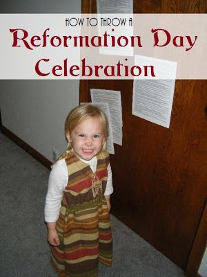 Looking for an alternative to Halloween? Here are lots of ideas for you to have a Reformation Day Party!
