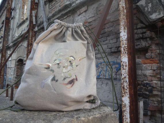 Drawstring backpack Yoda Star Wars by koatye1 on Etsy