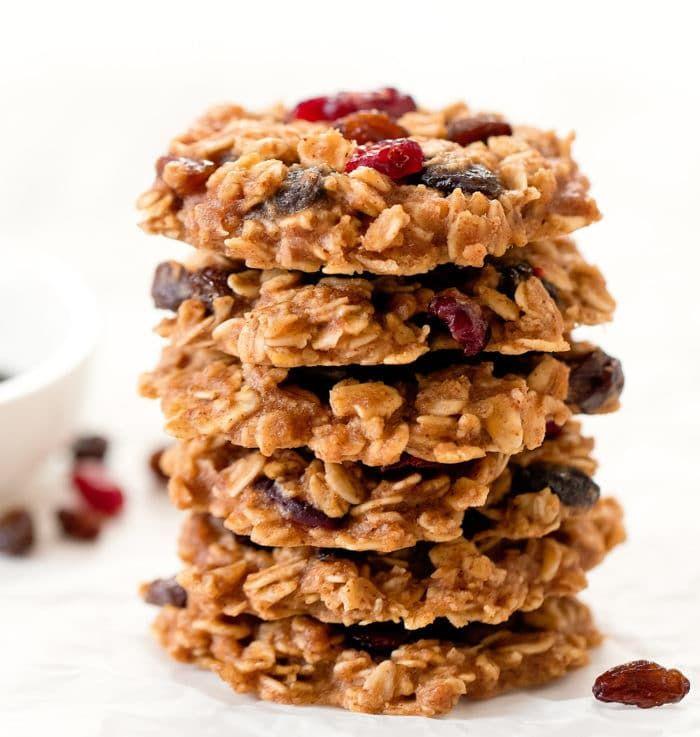 Healthy Oatmeal Raisin Cookies No Eggs Flour Butter Or Refined Sugar Recipe Oatmeal Raisin Cookies Healthy Oatmeal Raisin Cookies Oatmeal Raisin