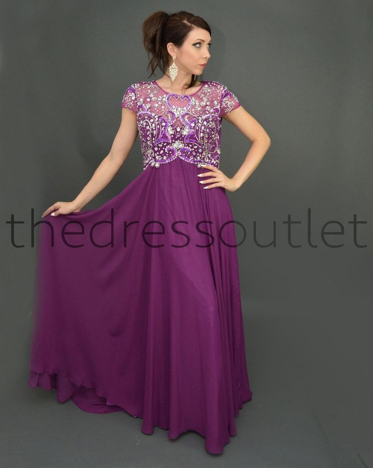 Modest mother of the bride plus size formal long gown for Formal dresses plus size for weddings