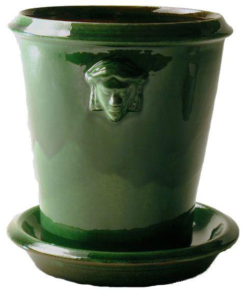Grön kruka inspirerad av kruka i Nordiska museets samlingar. Perfekt till julrosen! | Nordiska museet