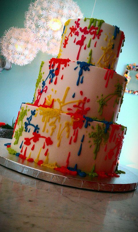 Fun splatter cake.