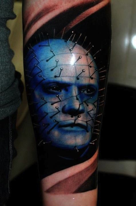 #Horror #tattoo www.inkedmag.com PINHEAD OH MY GOSH YES