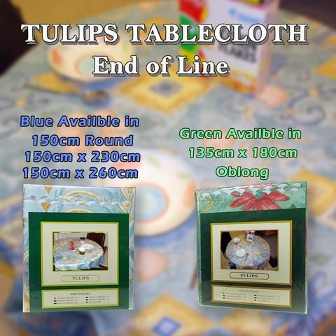 Tulips Tablecloth End of Line at wholesale prices