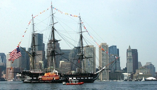 """The USS Constitution """"Old Ironsides"""" Boston Harbor"""