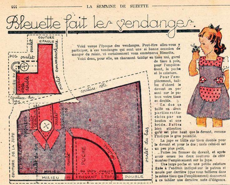 PAR AMOUR DES POUPEES :: 1947-09 Bleuette fait les vendanges                                                                                                                                                                                 Plus