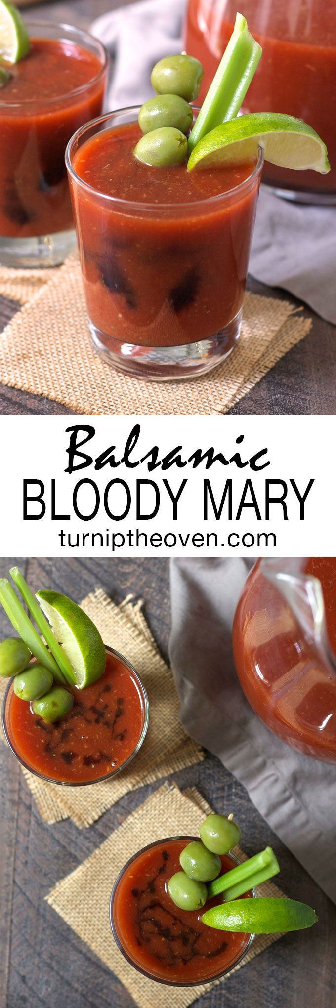 This balsamic bloody mary puts a new spin on the classic brunch cocktail. A little spicy, a little sweet, and totally addictive!