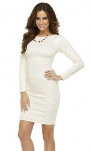 Scoop back bodycon dress #cream #lace #kardashian #kollection www.appletreeboutique.com.au