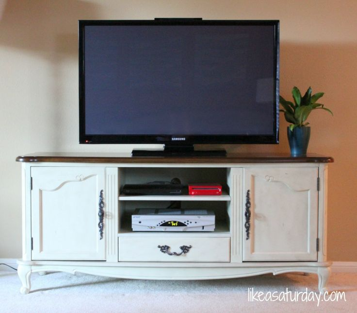 hiding wires behind the tv stand organization