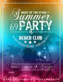 Beach Party Flyer para o seu evento de música latina Ilustração De Stock