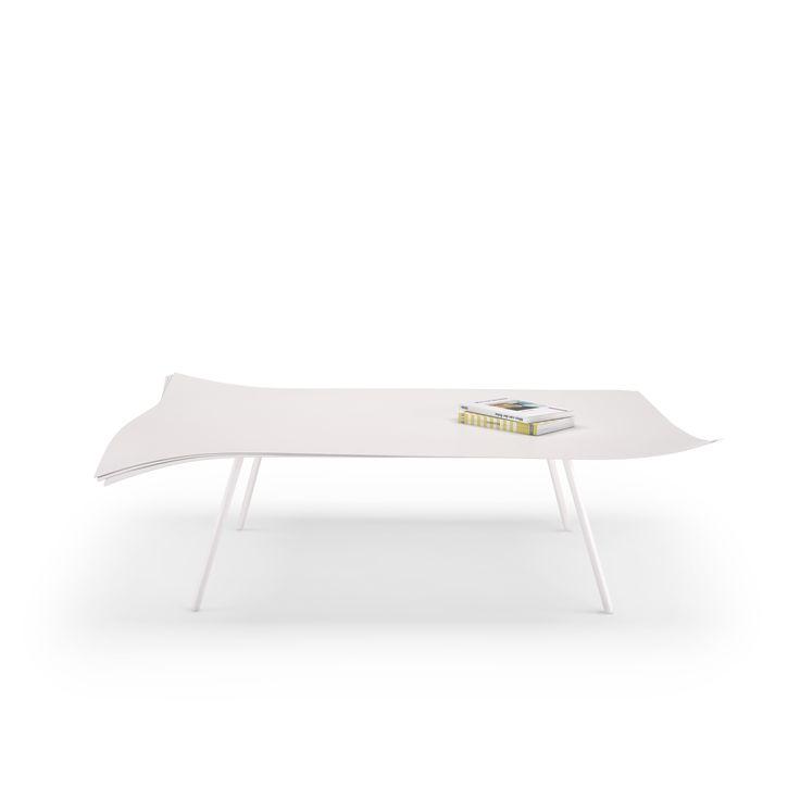 Paper table - design by julien Vidame - coffeetable - paper - white - design - art - vidamecreation