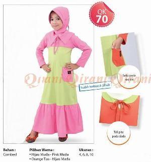 Dress Anak Qirani Kids QK 70 Pink