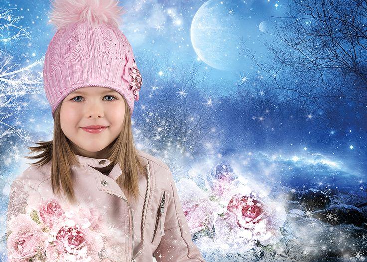 #Barbaras #fashion #kids #hats #newcollection #girl #style #winter #romantic #crystals #pink #flower #accessories #boys #children #moda #Swarovski