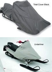 Snowmobile covers for Arctic Cat Bearcat 570 or 570XT 2003 to 2008 2 up models snowmobiles. Choice of covers include the the total cover in black and the underliner.