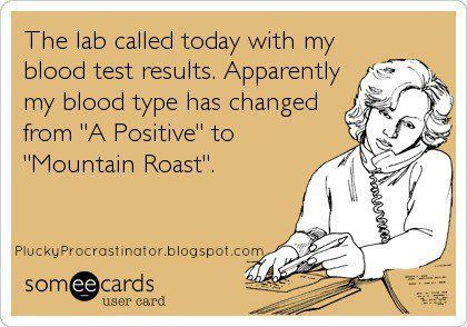 coffee blood type #CoffeeHumor
