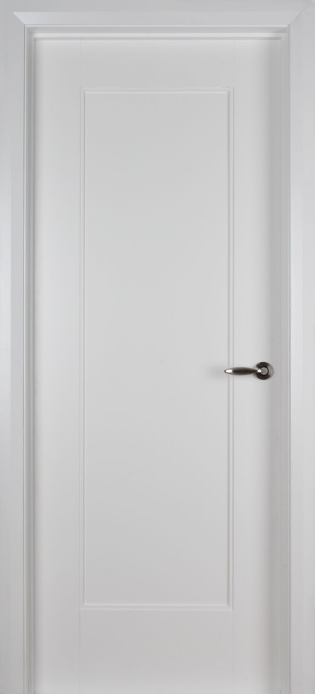 Shaker 1 Panel White Primed Door (40mm) | Internal Doors | White Internal Doors